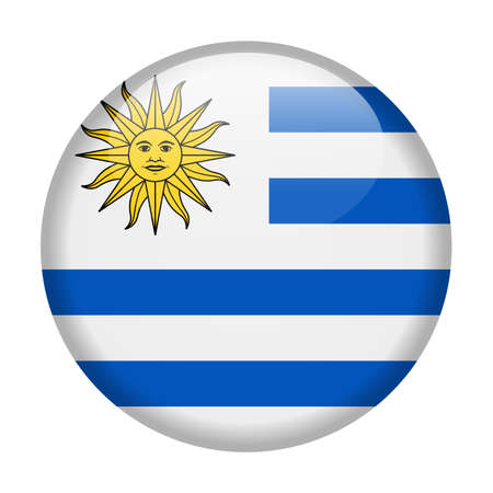 uruguay drapeau vecteur icône ronde - illustration