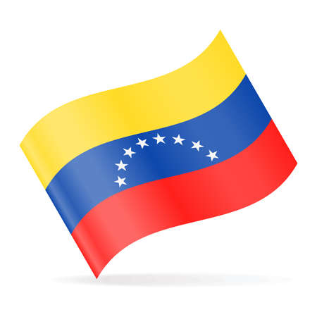 Venezuela Flag Vector Waving Icon - Illustration