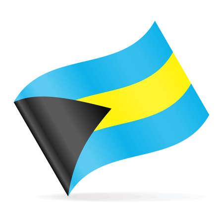 Bahamas Flag Vector Waving Icon - Illustration Illustration