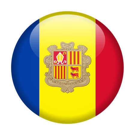 Andorra Flag Vector Round Icon - Illustration