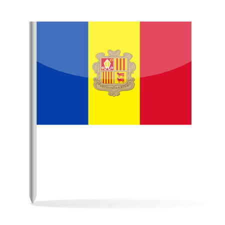 Andorra Flag Pin Vector Icon - Illustration Ilustrace