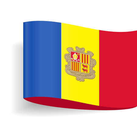 Andorra Flag Vector Icon - Illustration Reklamní fotografie - 93484099