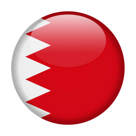 Bahrain Flag Vector Round Icon - Illustration