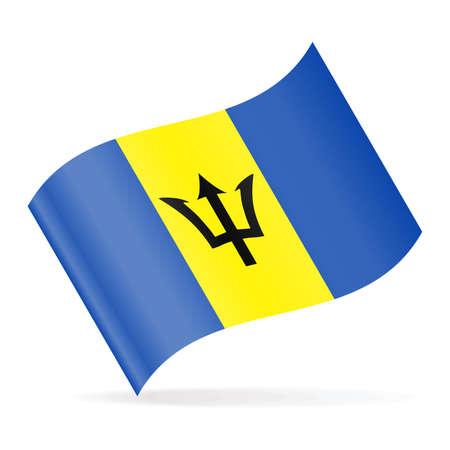 Barbados Flag Vector Waving Icon - Illustration Illustration