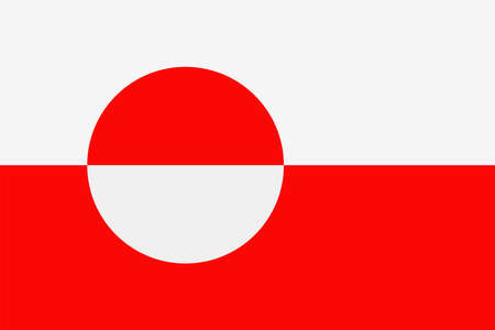 Greenland Flag Vector Icon - Illustration Vettoriali