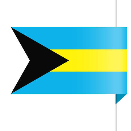 Bahamas Flag Vector Bookmark Icon - Illustration