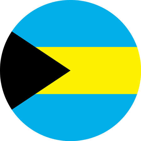 Bahama's vlag Vector ronde platte pictogram illustratie Stock Illustratie