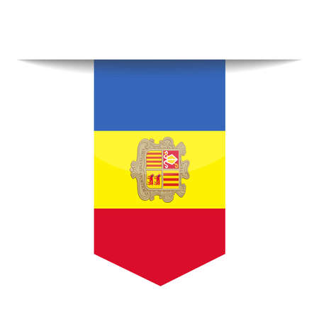 Andorra Flag Vector Bookmark Icon Illustration Ilustrace