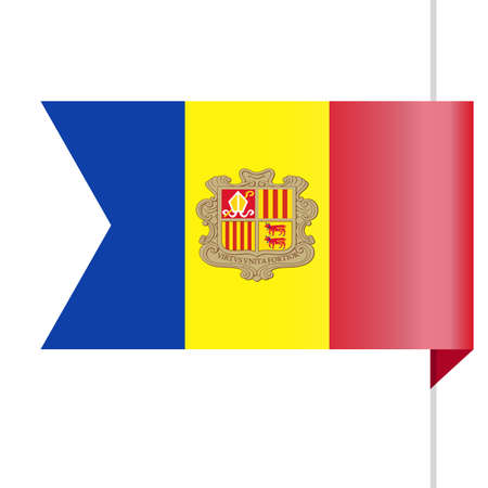 Andorra Flag Vector Bookmark Icon - Illustration Reklamní fotografie - 93653438