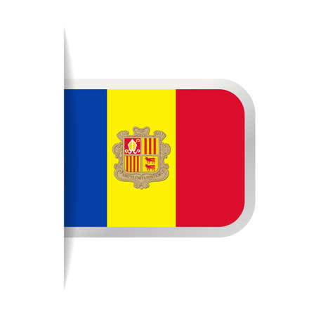 Andorra Flag Vector Bookmark Icon - Illustration. Reklamní fotografie - 93653226