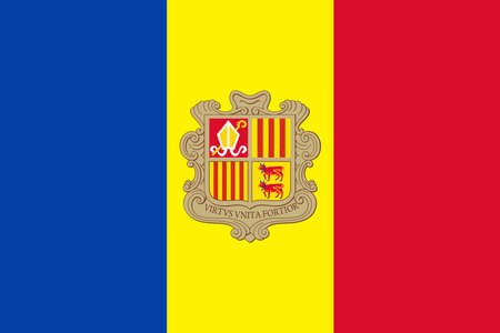 Andorra Flag Vector Icon - Illustration
