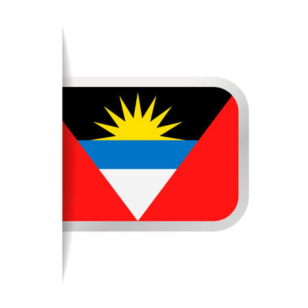 Antigua and Barbuda Flag Vector Bookmark Icon - Illustration Illustration