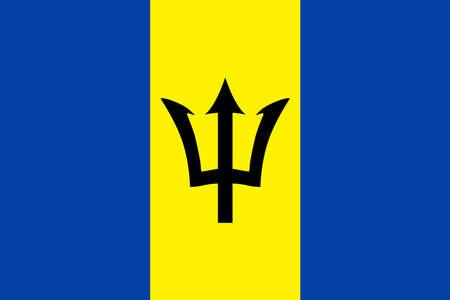 Barbados Flag Vector Icon - Illustration