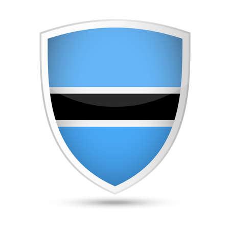 Botswana Flag Vector Shield Icon - Illustration Illustration