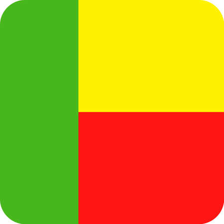 Benin Flag Vector Square Flat Icon - Illustration Illustration