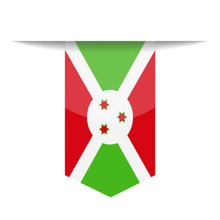 Burundi Flag Vector Bookmark Icon - Illustration