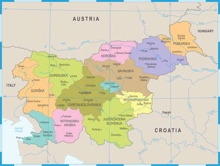 Slovenia Map - High Detailed Vector Illustration Illustration