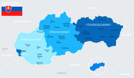 Slovakia Map - Detailed Vector Illustration