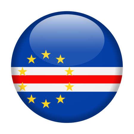 Cape Verde Flag Vector Round Icon Illustration