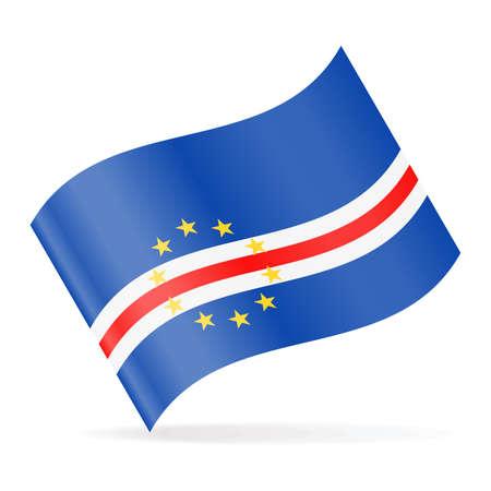 Cape Verde Flag Vector Waving Icon - Illustration