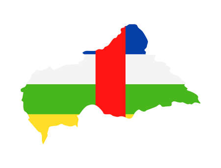 Central African Republic Flag Country Contour Vector Icon - Illustration Illustration
