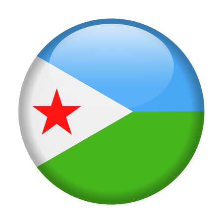 Djibouti Flag Vector Round Icon Illustration Illustration