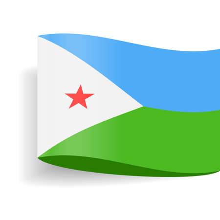 Djibouti Flag Vector Icon - Illustration