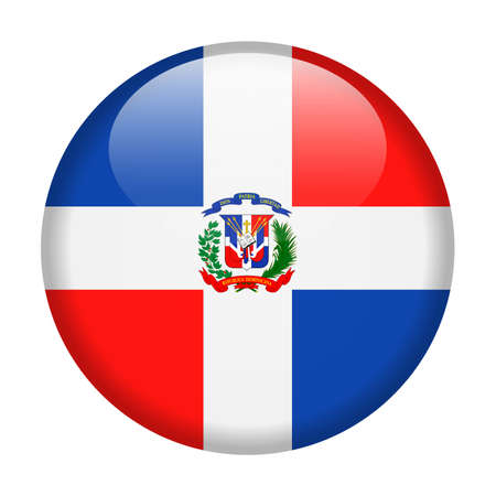 Dominican Republic flag vector round icon - illustration. 版權商用圖片 - 94585963