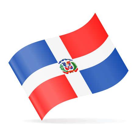 Dominican Republic flag vector waving icon - illustration. Illustration
