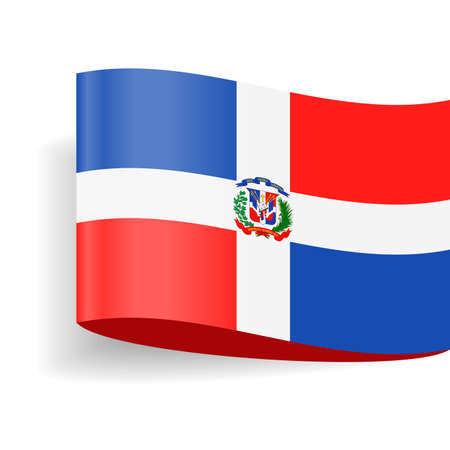 Dominican Republic flag vector icon - illustration on white background.