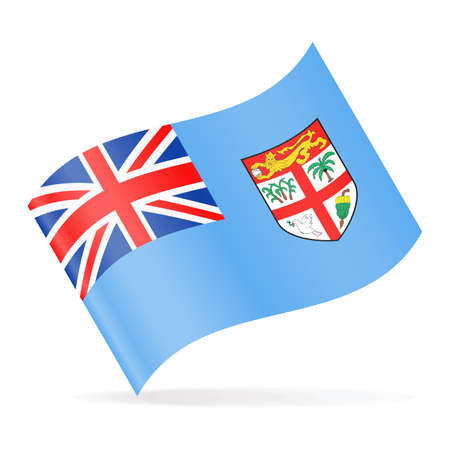 Fiji Flag Vector Waving Icon - Illustration Illustration