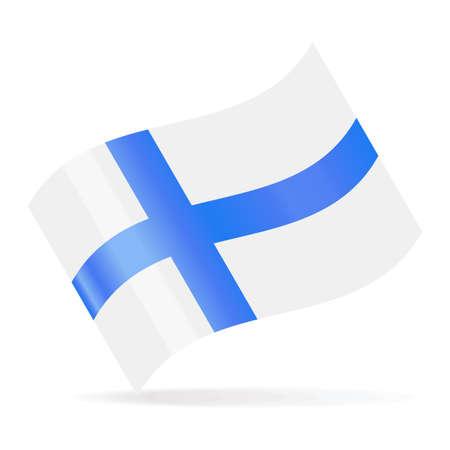 Finland Flag Vector Waving Icon - Illustration Illusztráció