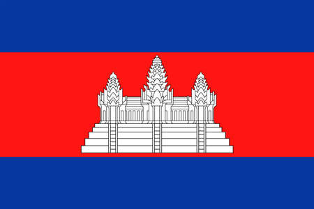 Illustrazione dell'icona di vettore della bandiera della Cambogia