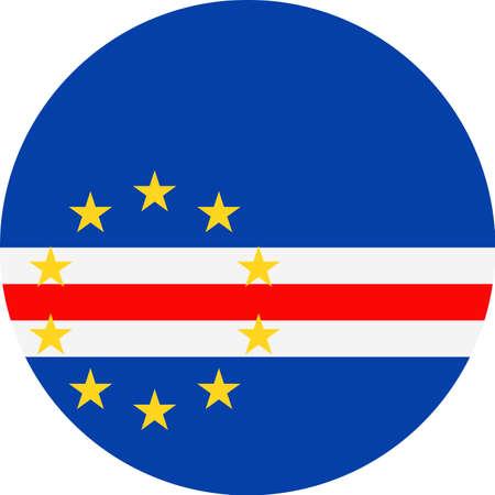 Cape Verde Flag Vector Round Flat Icon Illustration