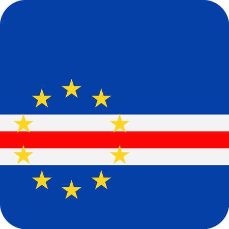 Cape Verde Flag Vector Square Flat Icon Illustration Illustration