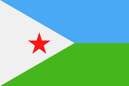 Djibouti Flag Vector Icon Illustration