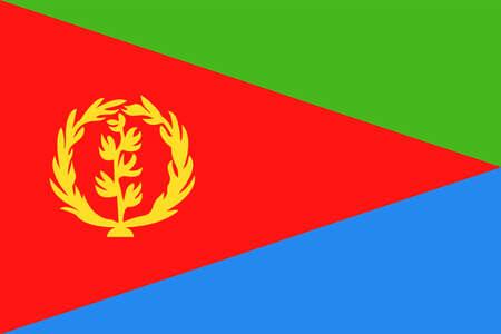 Eritrea Flag Vector Icon Illustration Illustration