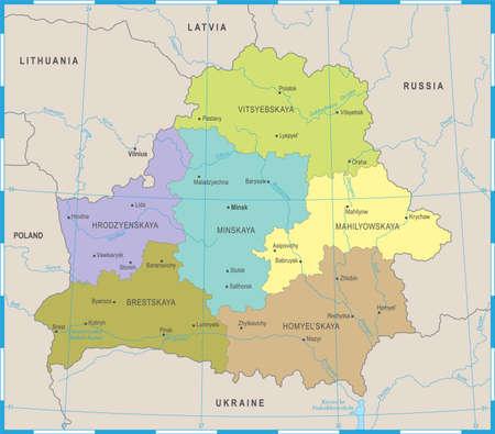 Belarus Map - High Detailed Vector Illustration
