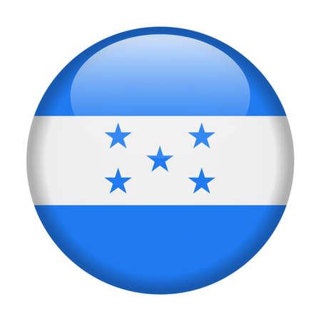Honduras Flag Vector Round Icon - Illustration design