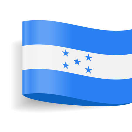 Honduras flag icon on white background - vector illustration.