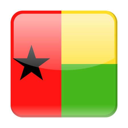 Guinea-Bissau Flag Vector Square Icon