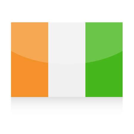 コートジボワールの旗ベクトルアイコン - イラスト