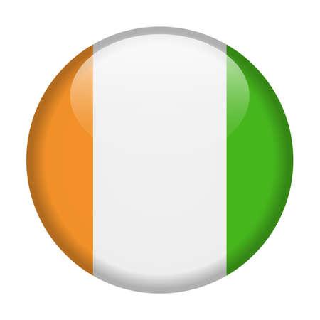 Côte d'Ivoire drapeau vecteur icône ronde - Illustration