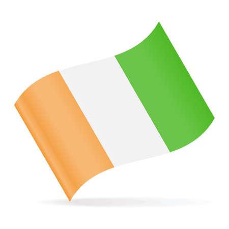 Ivory coast Flag Vector Waving Icon - Illustration Vectores
