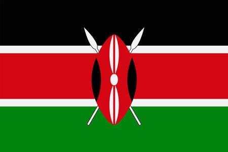 Kenya Flag Vector Icon - Illustration