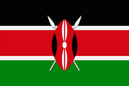 Kenya Flag Vector Icon - Illustration