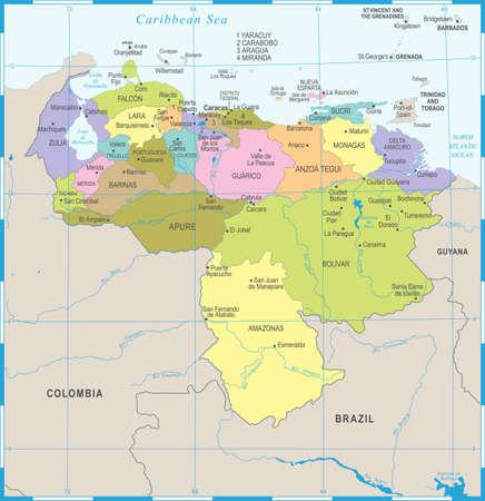 Venezuela Map - High Detailed Vector Illustration