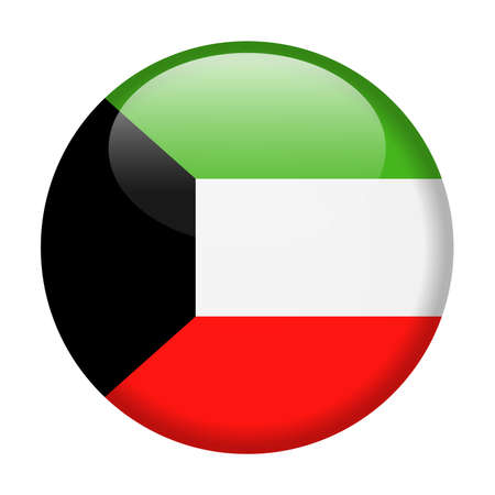 Kuwait Flag Vector Round Icon - Illustration Çizim