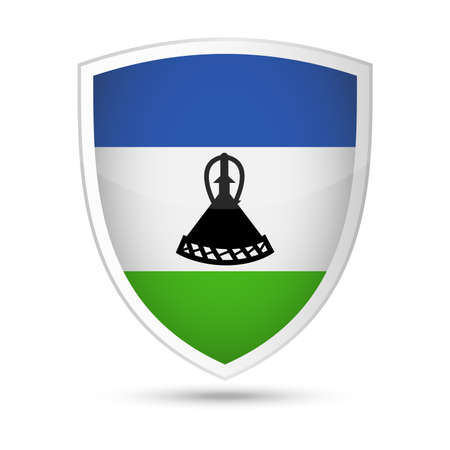 Lesotho Flag Shield Icon