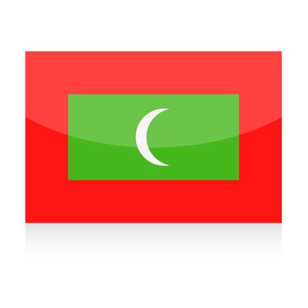 Maldives Flag Vector Icon Illustration